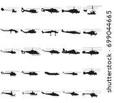 helicopter set illustration.... | Shutterstock .eps vector #699044665