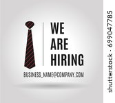 we are hiring icon. the concept ...   Shutterstock .eps vector #699047785