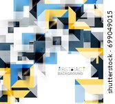 modern square geometric pattern ... | Shutterstock . vector #699049015