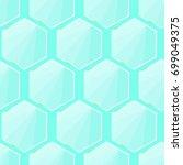 glass hexagon pattern vector  | Shutterstock .eps vector #699049375
