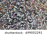 pebble ground pattern  gray... | Shutterstock . vector #699052291
