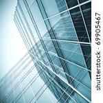 modern blue glass skyscraper... | Shutterstock . vector #69905467