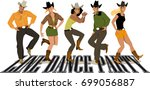 group of cowboys ans cowgirls... | Shutterstock .eps vector #699056887