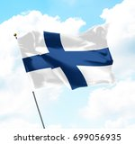 flag of finland raised up in... | Shutterstock . vector #699056935