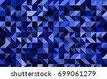 dark blue vector low poly... | Shutterstock .eps vector #699061279