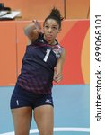 Small photo of Rio de Janeiro, Brazil - august 20, 2016: GLASS Alisha (USA) during women's Volleyball,match Nederland and USA in the Rio 2016 Olympics Games