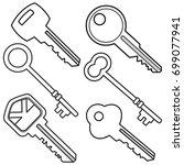 assorted keys illustration | Shutterstock .eps vector #699077941