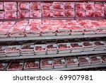 Fully Loaded Shelves With Meat...