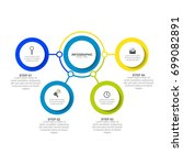 circle infographic template... | Shutterstock .eps vector #699082891