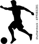 silhouette of a soccer player... | Shutterstock .eps vector #699083281