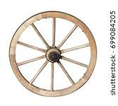 Old Wooden Handicraft Carriage...