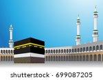 al haram mosque mecca or makkah ... | Shutterstock .eps vector #699087205
