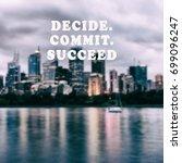inspirational and motivational... | Shutterstock . vector #699096247
