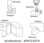 vector of industry machining... | Shutterstock .eps vector #699113374