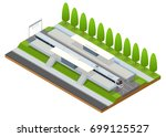 illustration isometric... | Shutterstock . vector #699125527