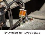 gasoline filter.  | Shutterstock . vector #699131611