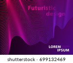 futuristic template design... | Shutterstock .eps vector #699132469