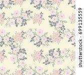 seamless folk pattern in small... | Shutterstock . vector #699135559