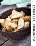 Small photo of diced homemade roasted jerusalem artichoke sunchoke dish