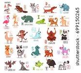 alphabet animals doodle style