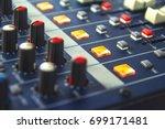 control audio mixer.   Shutterstock . vector #699171481