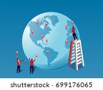 global business strategy... | Shutterstock .eps vector #699176065