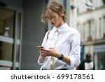 paris october 2  2016. top...   Shutterstock . vector #699178561