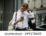 paris october 2  2016. top...   Shutterstock . vector #699178609