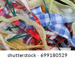 miscellaneous colorful ribbons  ... | Shutterstock . vector #699180529