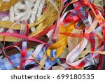 miscellaneous colorful ribbons  ... | Shutterstock . vector #699180535