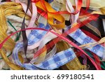 miscellaneous colorful ribbons  ... | Shutterstock . vector #699180541