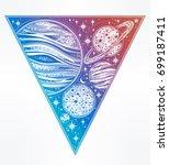 decorative planets in solar... | Shutterstock .eps vector #699187411