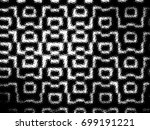 grunge halftone black and white.... | Shutterstock . vector #699191221