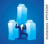 business concept illustration... | Shutterstock .eps vector #699192265