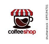 coffee shop logo template ... | Shutterstock .eps vector #699194701