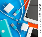 usb charging cables for... | Shutterstock . vector #699196651