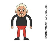 old man vector illustration | Shutterstock .eps vector #699202201