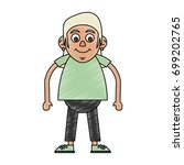 old woman vector illustration | Shutterstock .eps vector #699202765