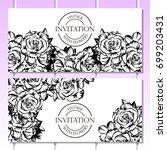 vintage delicate invitation... | Shutterstock .eps vector #699203431