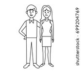 couple standing man and woman... | Shutterstock .eps vector #699204769