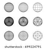 sacred geometry. snub... | Shutterstock .eps vector #699224791