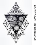 decorative planets in solar... | Shutterstock .eps vector #699226705