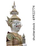 Thai sculpture isolated on white background - stock photo
