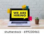we are hiring human resources... | Shutterstock . vector #699230461