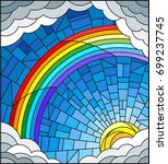 illustration in stained glass... | Shutterstock .eps vector #699237745