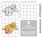 copy the picture using grid... | Shutterstock .eps vector #699240619