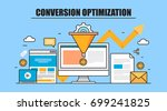 conversion optimization vector | Shutterstock .eps vector #699241825