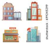 flat design urban landscape... | Shutterstock . vector #699245299