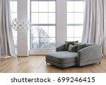 modern bright interiors. 3d...   Shutterstock . vector #699246415
