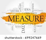 measure word cloud  business... | Shutterstock . vector #699247669